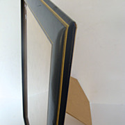 """Large Blue Leather Gold Tooled Frame 13"""" by 16"""""""