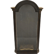 French 19th Century Walnut Niche Display Cabinet Arch Top