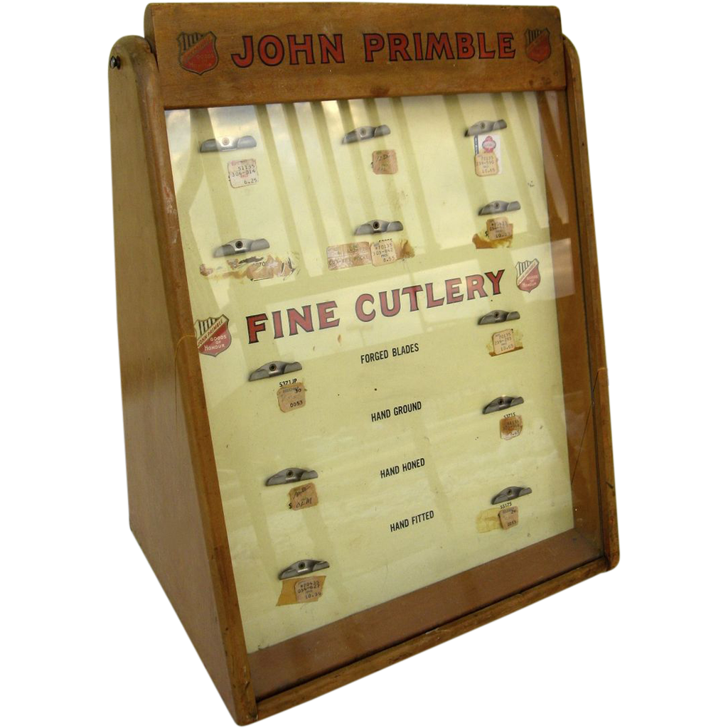 John Primble Fine Cutlery Store Display