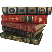 Vintage Franklin Library Group of 5 Limited Edition Full Leather Books