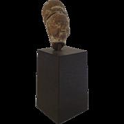 Ancient Female Goddess Stone Head on Stand Diadem