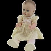 """Sweet Vintage 1950's Drink & Wet Baby Doll, Molded Hair, Sleep Eyes 25"""""""