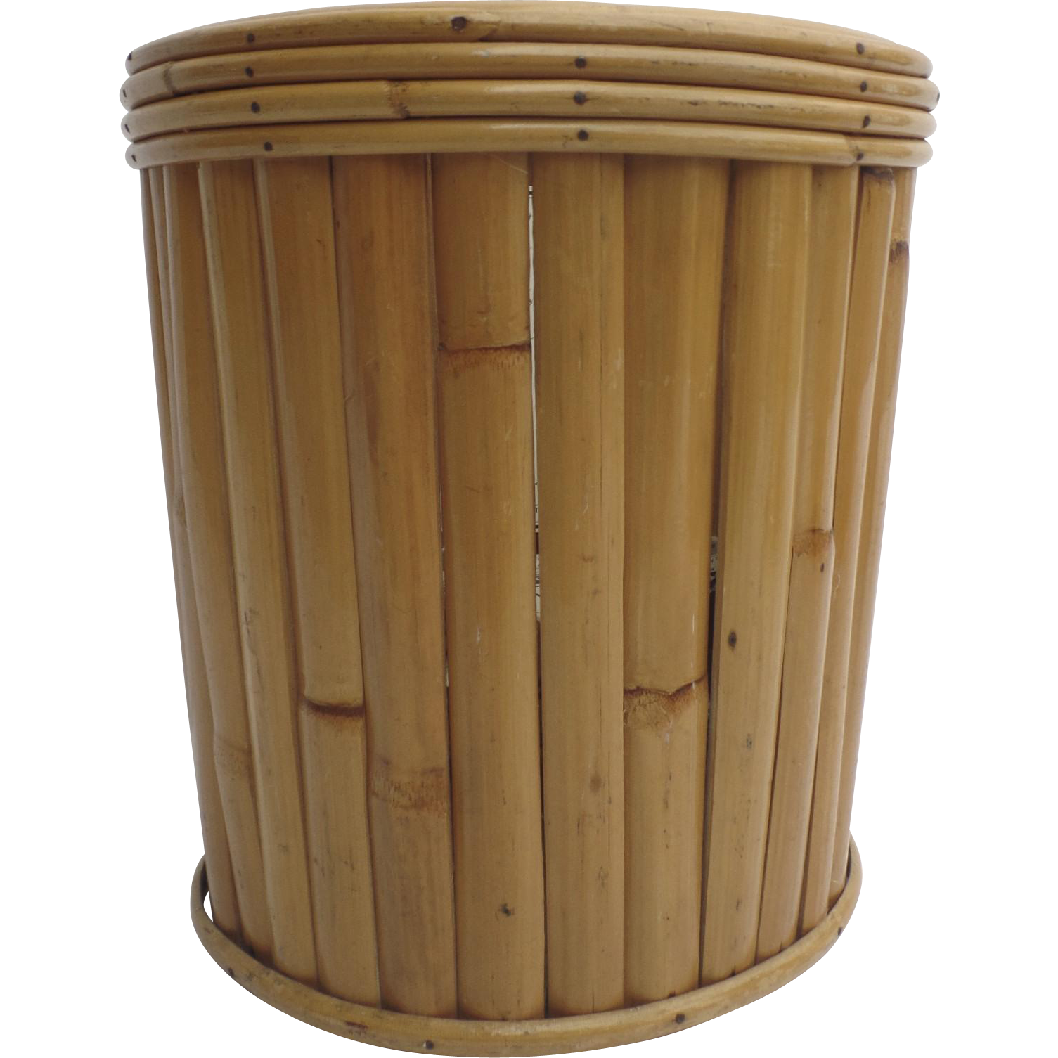 Vintage Bamboo Trash Waste Can Basket 1960's from blacktulip on Ruby Lane1505 x 1505 png 1147kB