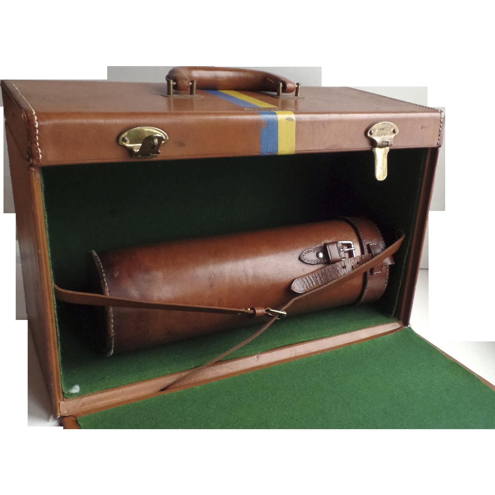 Vintage traveling portable bar suitcase trunk liquor - Mobile bar vintage ...