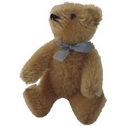 "Vintage 1960's Steiff Carmel Colored Jointed Bear 6"""