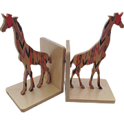 "Pair Giraffe Bookends by Special Edition Designed by Wolfum from ""Of a Kind"""