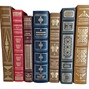 Vintage Set of Seven (7) Franklin Library Full Leather Limited Edition Books