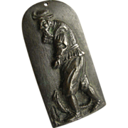 Small Bronze European Plaque Peasant