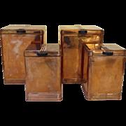 Vintage Kreamer Copper Set of Four