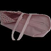 Vintage Pink Ginnette Doll Vinyl Plastic Bassinette Carrier 1950's