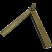 Vintage Brass Chinese Folding Key