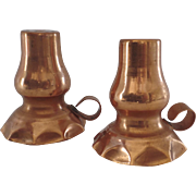 Vintage Copper Salt and Pepper Shakers Mid Century Marker 3.3