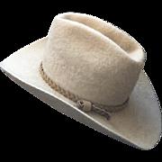 Vintage American Hat Company Felt Cowboy Western Hat Size 7 Tan