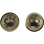 Zodiac Cancer Crab Destino Cufflinks