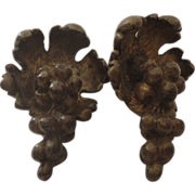 Pair of Ormolu Bronze Furniture/Lighting Mounts Grape Cluster