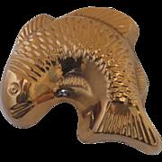 Vintage Copper Food Jello Mold Fish