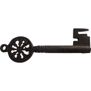 17th or 18th Century Italian Iron Key Pierced