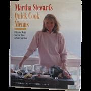Martha Stewart's Quick Cook Menus Cookbook
