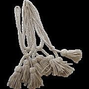 Vintage Set of Four Monkey's Fist Sailor's Knot Curtain Tie Backs Tassels