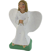 Vintage French Clay Painted Angel Santons de Provence