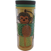 New Never Used Starbucks 2009 Insulated Children's Kid's Mug Cup Puzzle Monkey Peacock Elephant