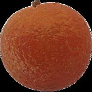 Vintage Italian Stone Marble Alabaster Carved Fruit Orange