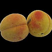 2 x Vintage Italian Stone Marble Alabaster Peaches Fruit