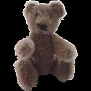 """Vintage Steiff 1960's Mocha Light Brown Jointed Bear 4"""""""