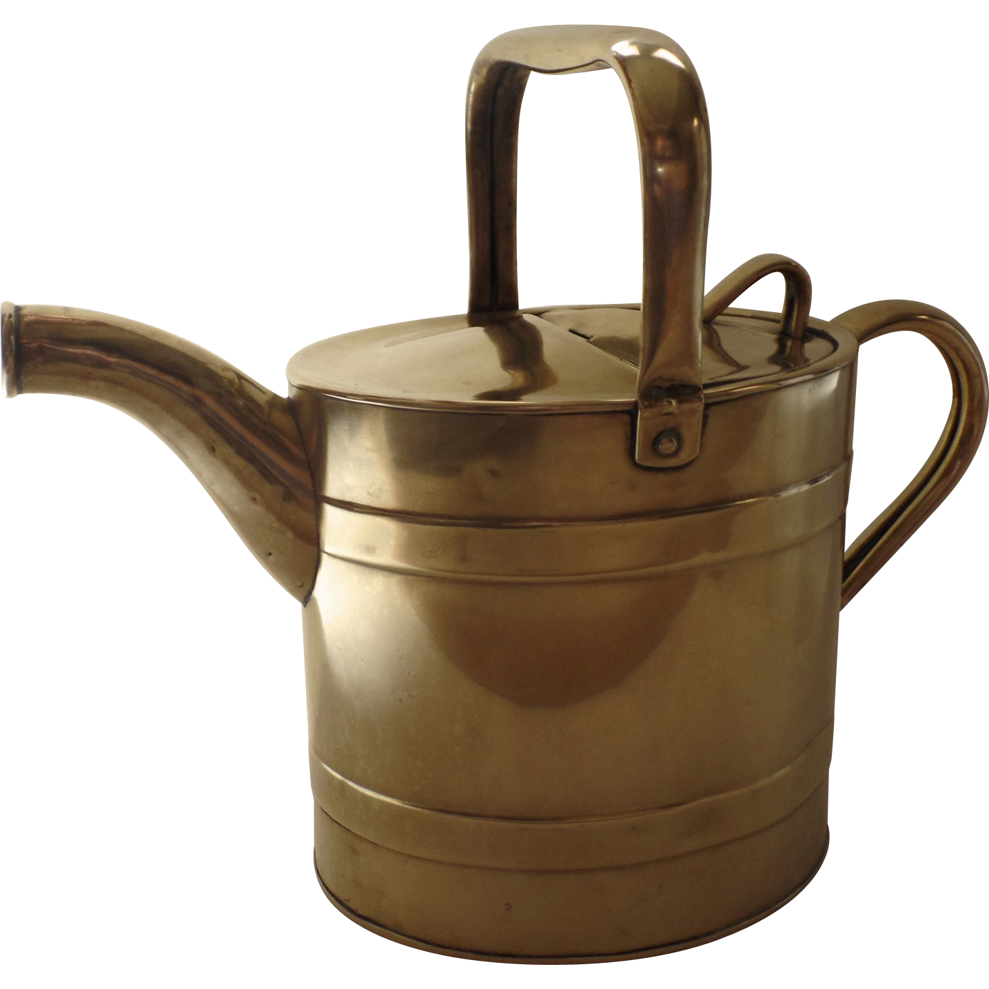 English Brass Barrel Watering Can By J S S Joseph Sankey Sons Ltd C Sold On Ruby Lane