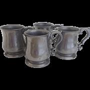 Vintage Set of Four (4) Armetale Beer Mug Noggin Un-used