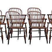 English Ash And Elm Windsor Chairs