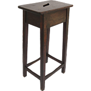 English 19th Century Walnut  Tall Clerk's Stool