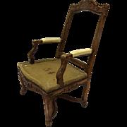 French Regency Period Walnut Carved Arm Chair 18th Century