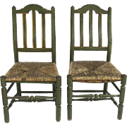 Pair of French Country painted Chairs