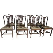 English Mahogany Hepplewhite Dining Chairs