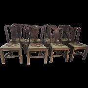 English Mahogany Hepplewhite Dining Chairs