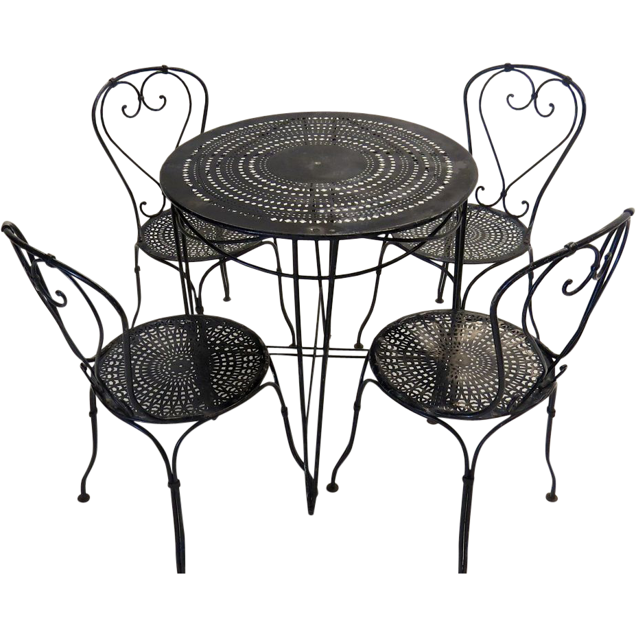 French bistro table and chairs from blacktulip on ruby lane for Table and chairs