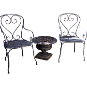 Pair of French Bistro Arm Chairs c 1940