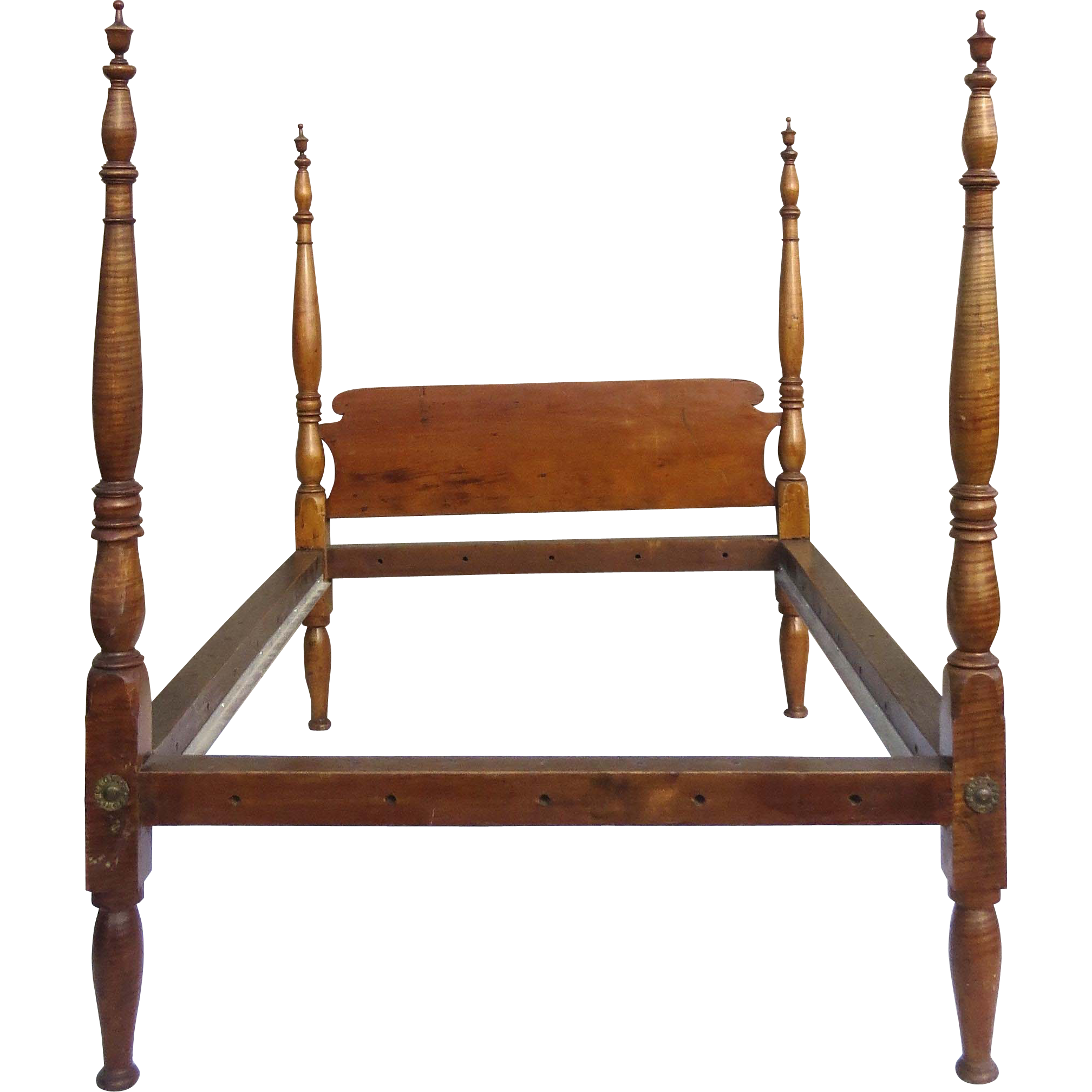 American Tiger Maple Canopy Bed Four Poster From