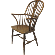 English Yew and Elm Windsor Arm Chair
