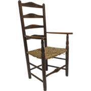 English Ladder Back Yorkshire Arm Chair Circa 1780