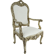 Mid 18th Century Italian Palazzo Rococo carved armchair