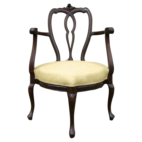 Mahogany Carved Corner Arm Chair from blacktulip on Ruby Lane