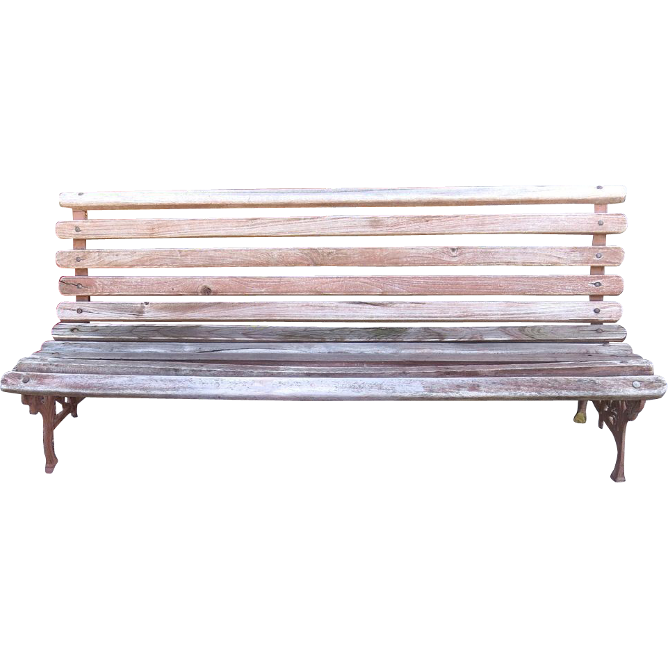 Cast Iron And Wood Slat Park Of Railway Bench From Blacktulip On Ruby Lane