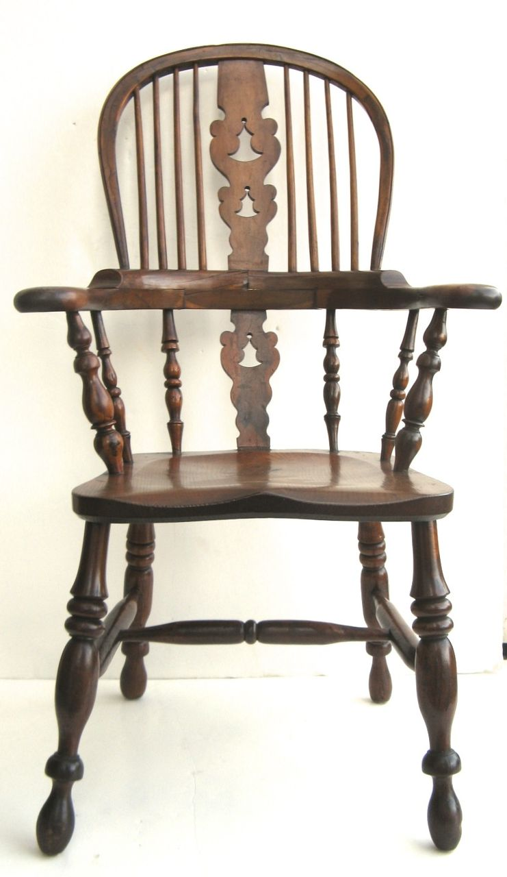 sc 1 st  Ruby Lane & English Yew Wood Windsor Chair : Black Tulip Antiques Ltd. | Ruby Lane