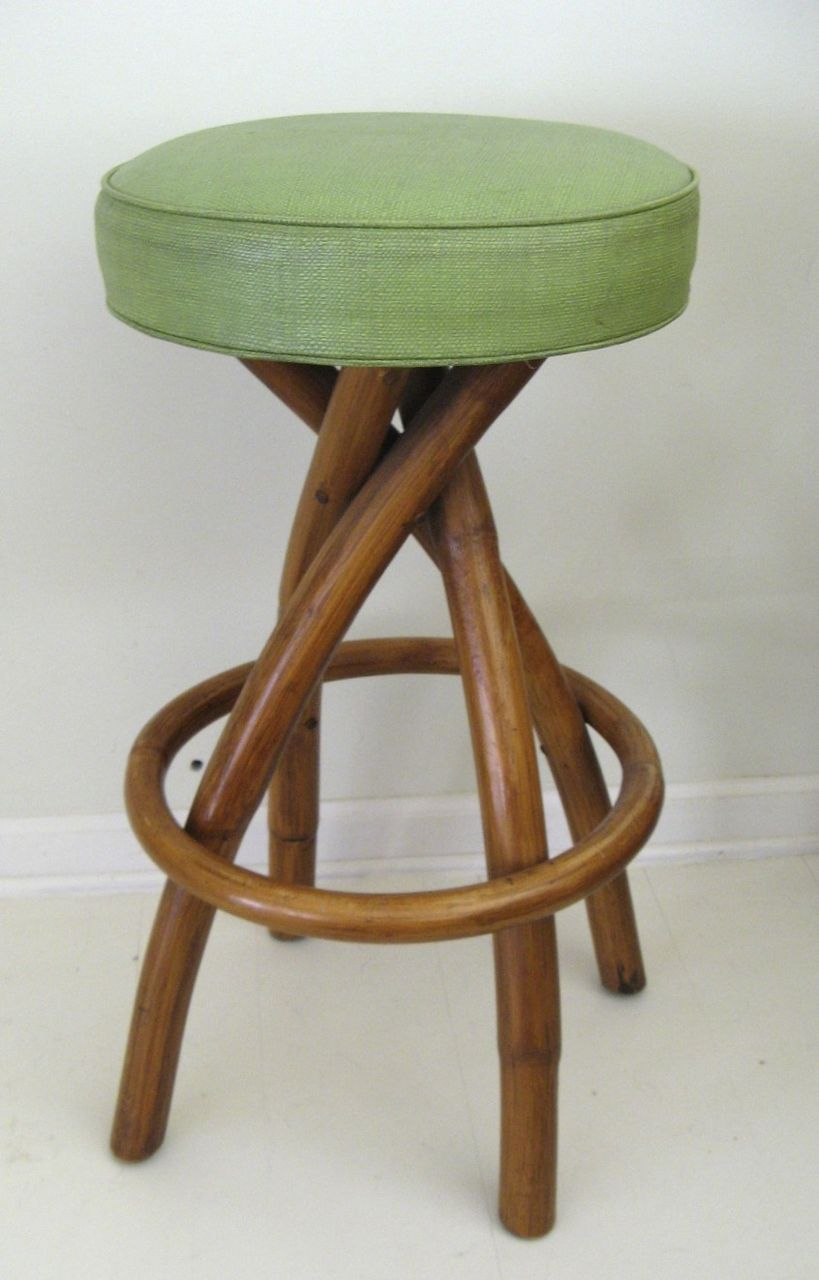Bradston Rattan Mid Century Bar Stool From Blacktulip On