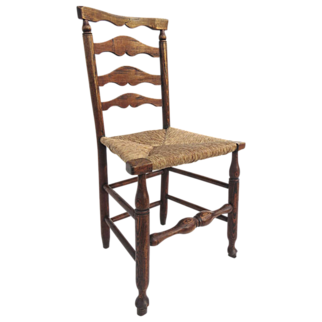Lancashire Ladder Back Chair Rush Seat