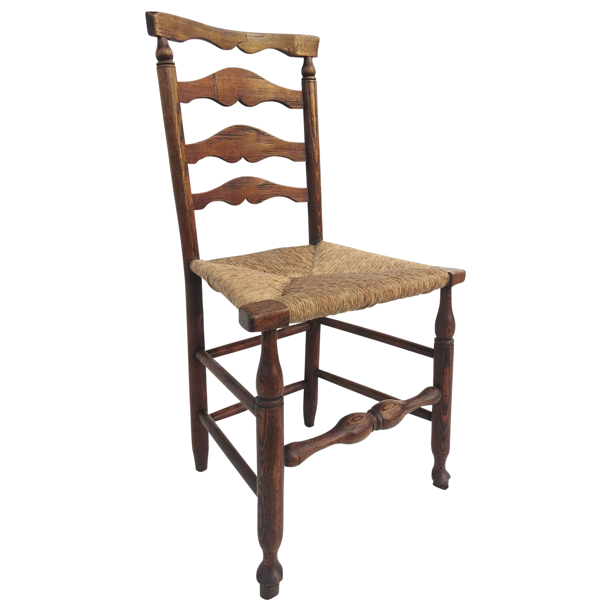 Lancashire ladder back chair rush seat from blacktulip on Ladder back chairs