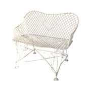American 19th Century Wirework Small Garden Bench