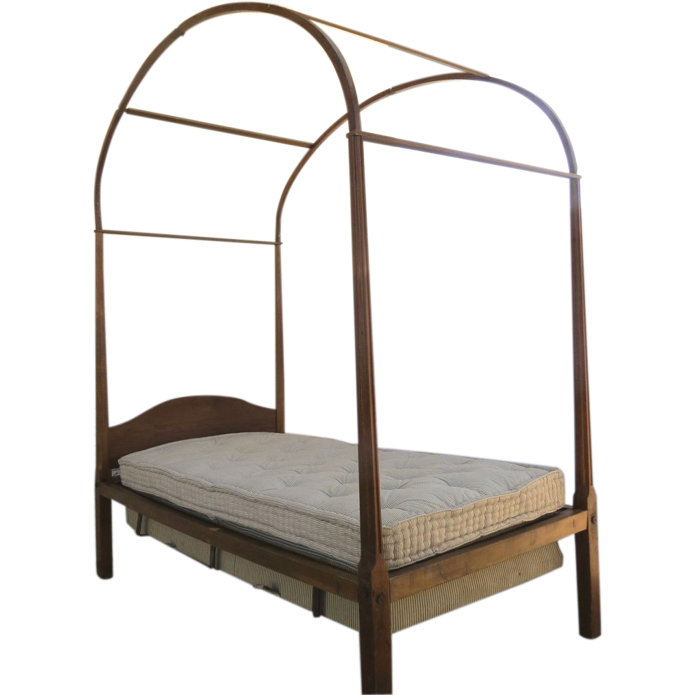 delightful country cherry four poster twin bed with canopy early 19th from blacktulip on ruby lane. Black Bedroom Furniture Sets. Home Design Ideas